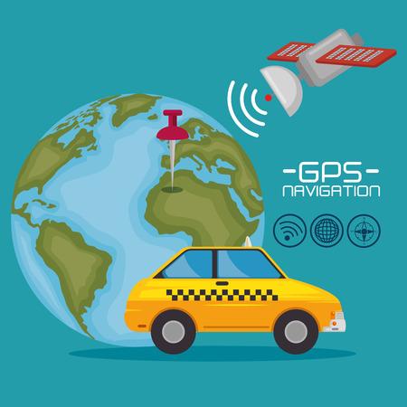 gps navigation concept vector illustration graphic design Illustration