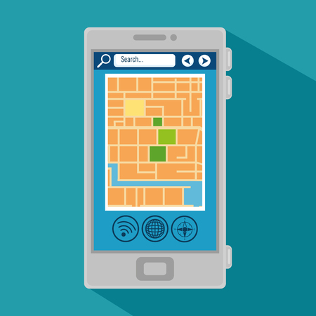 gps navigation online application vector illustration graphic design