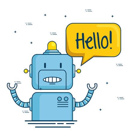 かわいい漫画のロボット技術ベクトルイラストグラフィックデザイン 写真素材 - 85246636