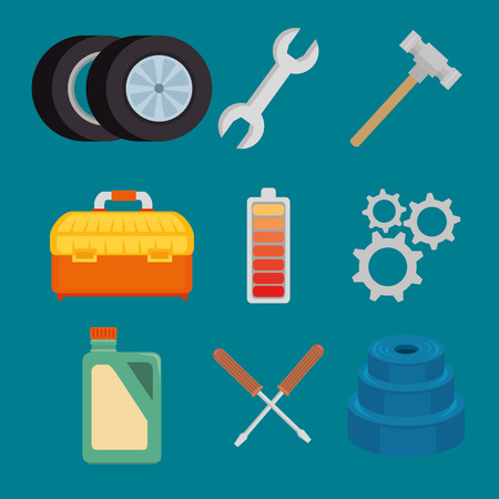 set of car service icons vector illustration graphic design Stock Vector - 85246667