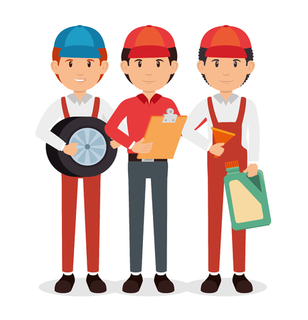 auto mechanic cartoon service vector illustration graphic design Reklamní fotografie - 85246687