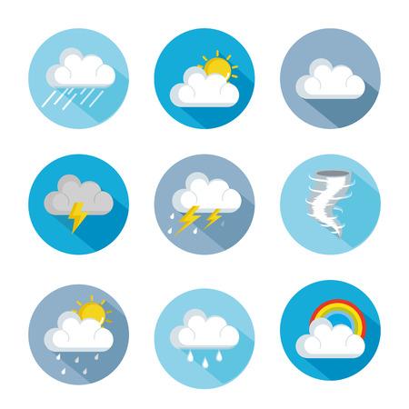 気象状況のアイコンのセットベクトルイラストデザイン