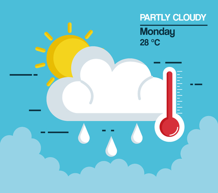 partly cloudy weather icon vector illustration design Illustration