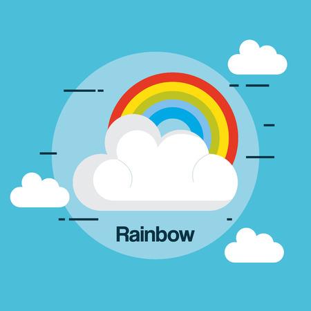 staat van de regenboog weer vector illustratie ontwerp Stock Illustratie