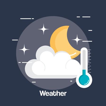rainy weather status icon vector illustration design Illustration