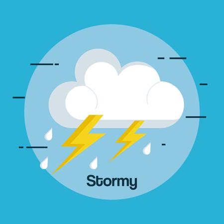 날씨 폭풍 뇌우 아이콘 벡터 일러스트 레이 션 디자인 일러스트