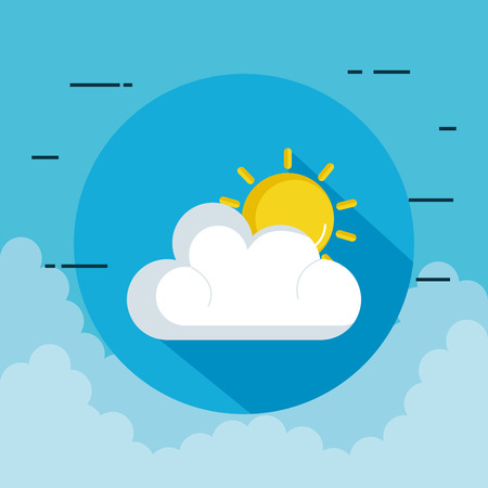 partly cloudy weather icon vector illustration design Çizim