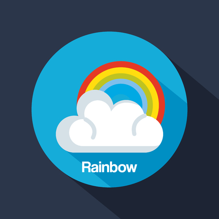 state of the rainbow weather vector illustration design Illustration