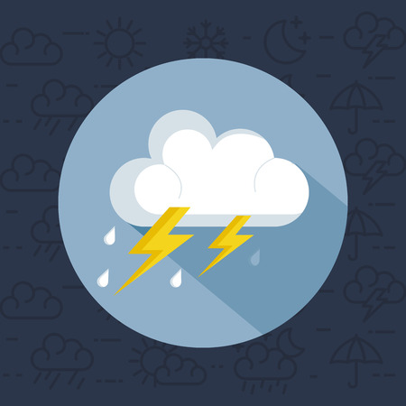 weather storm thunderstorm icon vector illustration design Çizim