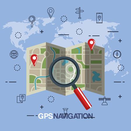 gps navigation app icons vector illustration design
