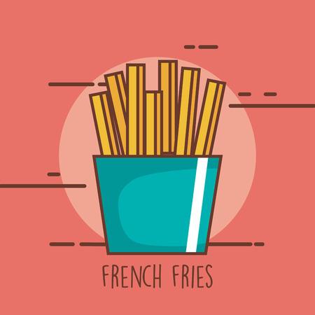 Heerlijke verse frietjes. Stock Illustratie