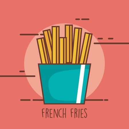 Delicious fresh fries.