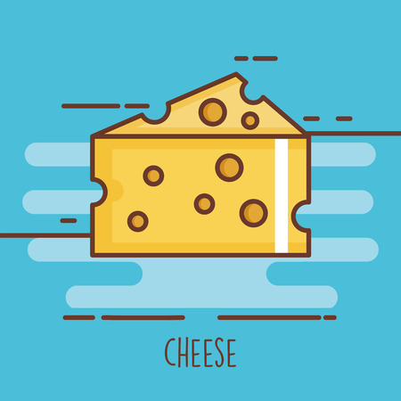 Delicious cheese isolated icon vector.
