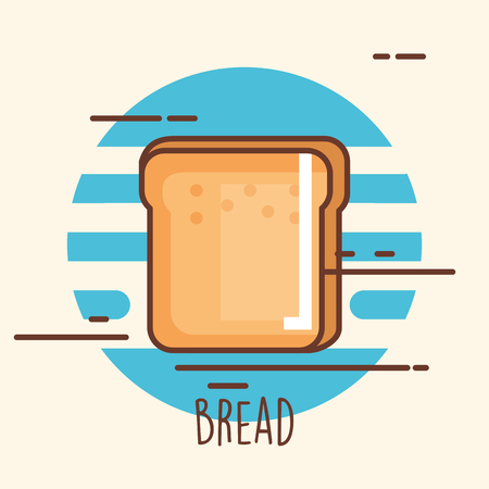 Delicious bread toast icon vector.