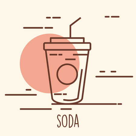 Soda cup isolated icon vector.