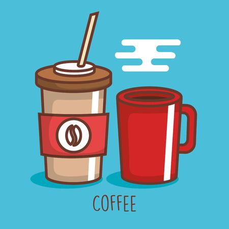 Delicious coffee drink icon vector.