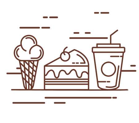 Leckere Fast-Food-Symbole. Standard-Bild - 85314609