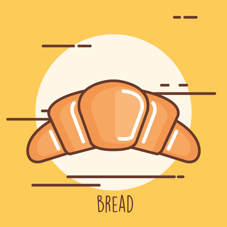 Delicious bread croissant icon vector illustration design. Ilustrace