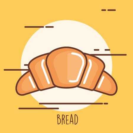 Delicious bread croissant icon vector illustration design. Ilustração