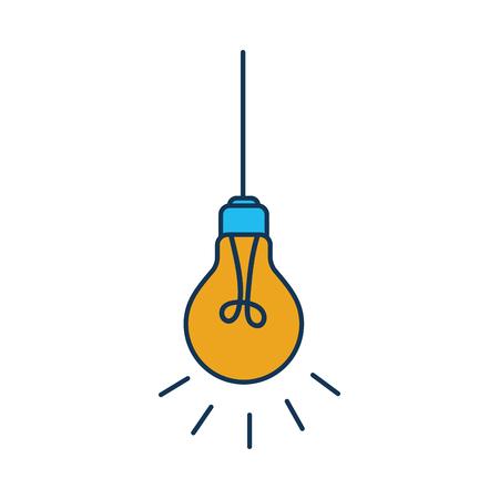 hanging light bulb efficient electric vector illustration