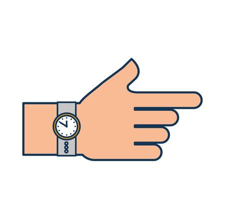 시계 시간 액세서리 패션 벡터 일러스트와 함께 손을
