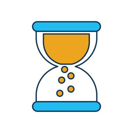 business sand clock time plan work vector illustration Çizim