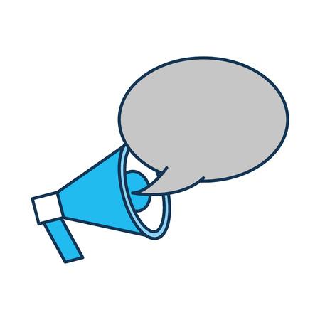Annonce mégaphone bulle parler émission illustration vectorielle Banque d'images - 85283137