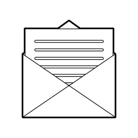 email envelope letter message communication vector illustration Illustration
