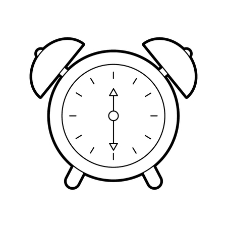 alarm clock time alert bell hour concept vector illustration Stock Vector - 85283723