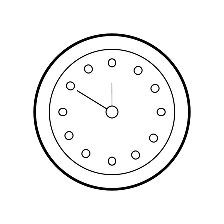 ラウンドクロック時間分デイタイマーベクトルイラスト