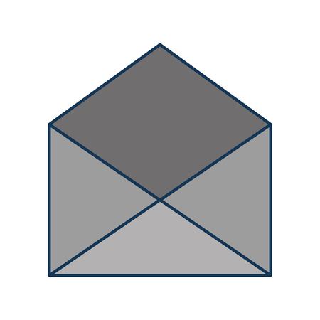 open envelope message mail concept vector illustration Ilustração