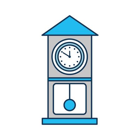 vintage clock pendulum decoration office element vector illustration
