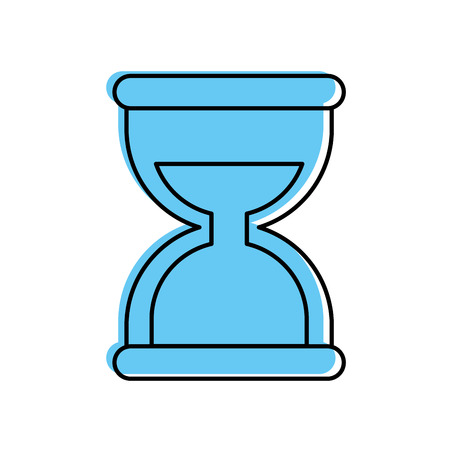 business time management hourglass and finance clock vector illustration Illustration