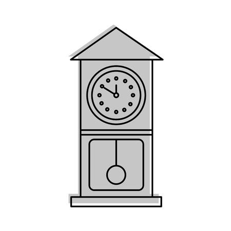 vintage clock pendulum decoration office element vector illustration Stock Vector - 85283943