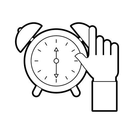 business clock alarm device icon vector illustration Illustration