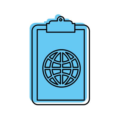 Presse-papiers avec connexion globale réseau image illustration vectorielle Banque d'images - 85284087