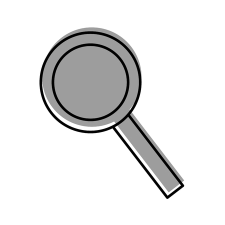 magnifying glass with handle equipment vector illustration