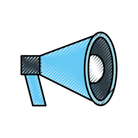 megaphone loudspeaker volume marketing advertising vector illustration