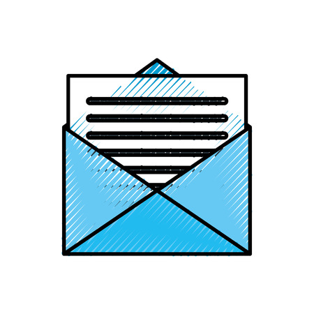 e-mail envelop brief bericht communicatie vector illustratie Stock Illustratie