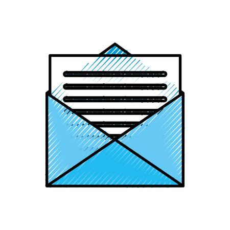 email envelope letter message communication vector illustration Иллюстрация