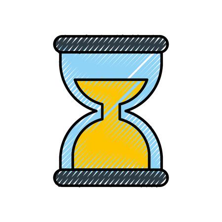 business time management hourglass and finance clock vector illustration Illusztráció