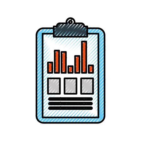 clipboard business graph checklist report vector illustration