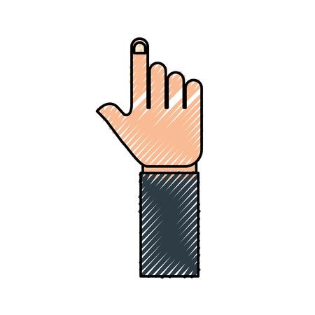ハンドポインタジェスチャシンボルアイコンベクトルイラスト  イラスト・ベクター素材