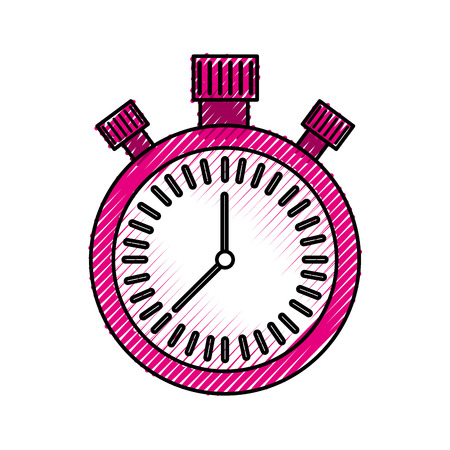 chronometer countdown speed timer object icon vector illustration