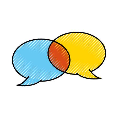 연설 거품 채팅 코멘트 메시지 대화 벡터 일러스트 레이션