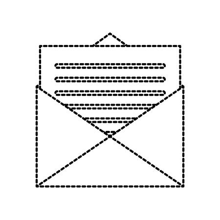 メールの封筒文字メッセージ通信ベクトルイラスト  イラスト・ベクター素材