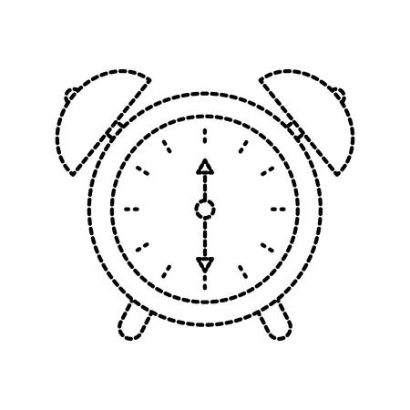 wekker tijd waarschuwing bel concept concept vector illustratie