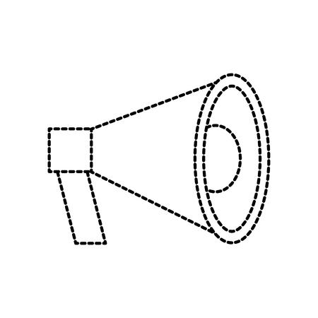 megaphone loudspeaker volume marketing advertising vector illustration