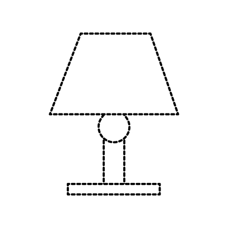 lamp bulb light furniture electric decoration element vector illustration