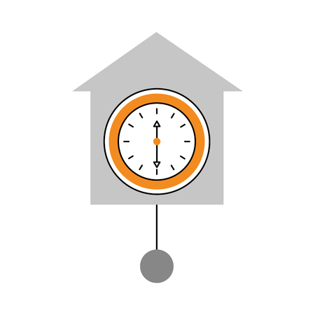 wandklok pictogram object tijd concept vectorillustratie